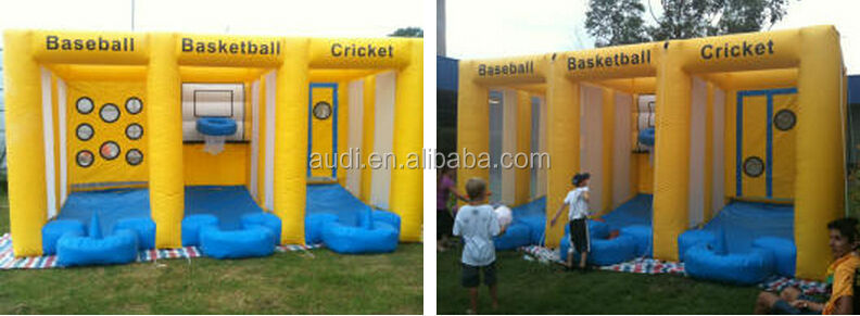 SPORTSPAK/Inflatable sports game/Baseball Basketball Cricket