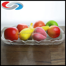Hot Sale Clear Square Shape Fruit Glass Plate For Decoration