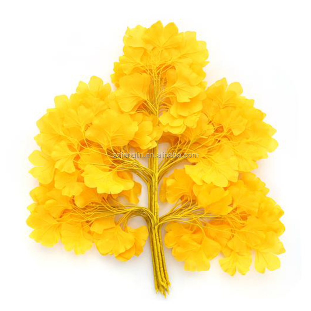 Artificial Silk Ginkgo Leaf For Decoration