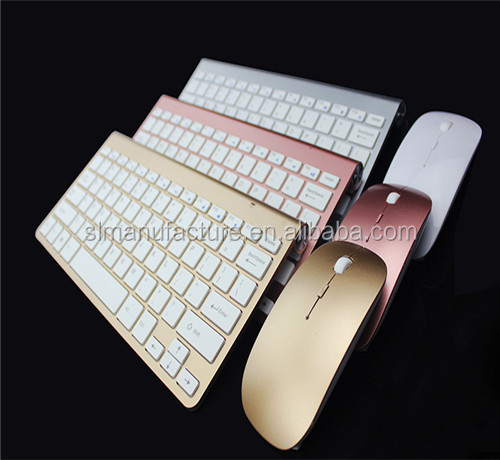 Colored wireless keyboard and mouse combo