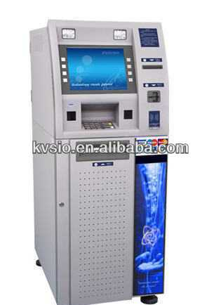 Free Stand Touch Screen ATM Bill Chang Machine Dimensions Photo Booths And Kiosks