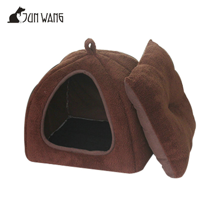 Small Animals Washable Brown Fleece Soft Warm Indoor Wholesale Luxury Fabric Dog House