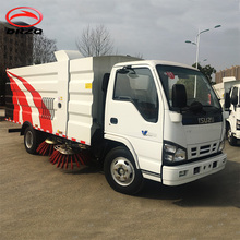 Hot ISUZ U road cleaning truck, vacuum road sweeper vehicle original manufacture sale
