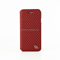 Red mobile phone accessories, flip stand leather cover for iphone