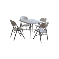 Plastic folding used outdoor table and chair