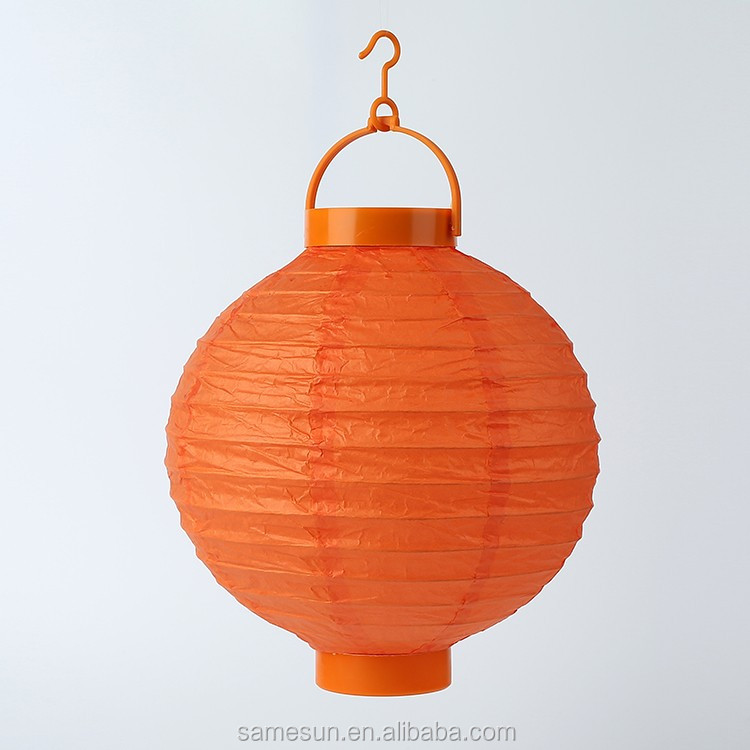 Chinese orange LED paper lantern