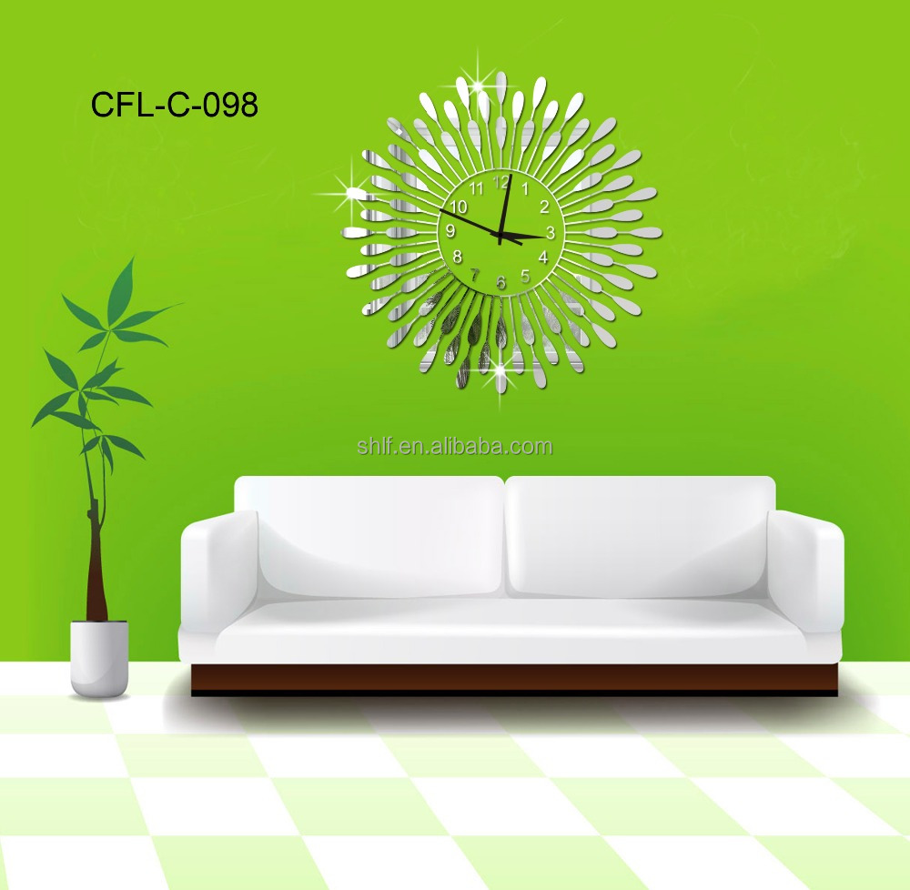 why to order home decor flower shaped frameless wall clock