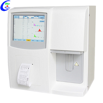 3 Part Auto CBC Test Machine Differential Blood Cell Counter Hematology Analyzer With Two Chambers