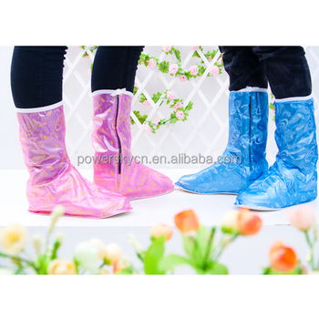 fashional PVC Waterproof Plastic Rain Shoe Covers Woman