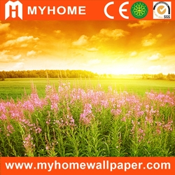 natural beautiful self adhesive vinyl photo printing wallpaper