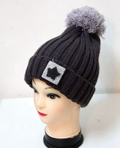 Fashion In Stock Multi-color Women's Winter Thick Custom Knit Pom Pom Beanie Hat