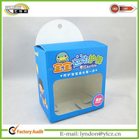 Kneelet packaging paper box body protect packing box with PVC window