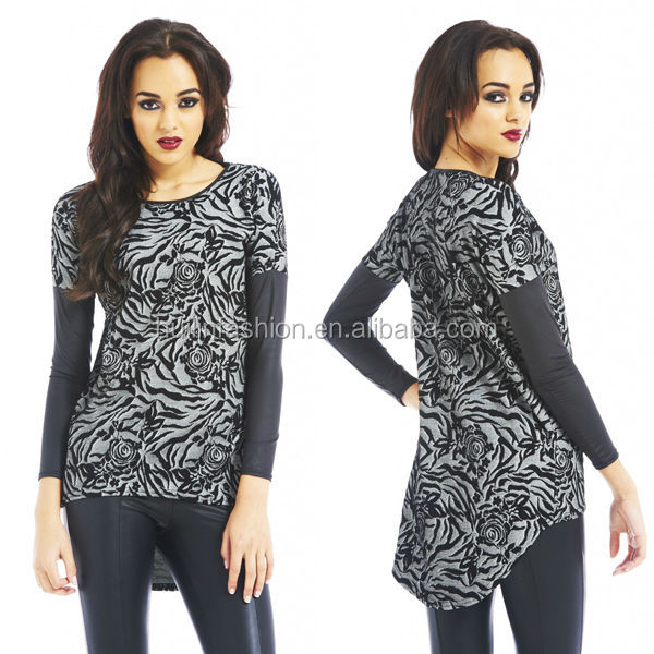 kurta designs for girl 2014 printed long sleeves blouses in woven saree blouse hand designs