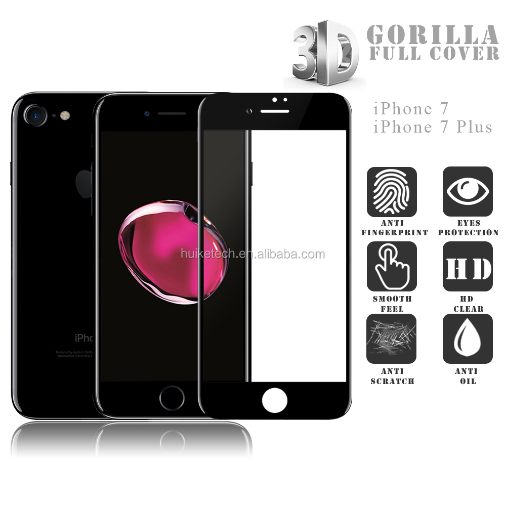 Best quality mobile <strong>phone</strong> accessories gorilla glass 9H tempered glass screen protector for iphone 7 /7 plus in stock