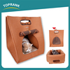 New design 3 in1 warm soft cat house dog bed felt cloth collapsible portable pet carrier