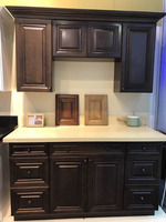 NEW!With 16 years manufacturer experience factory supply solid wood kitchen cabinet for 2015