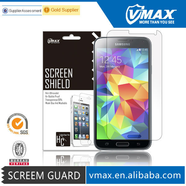 Free Sample Brand Vmax Crystal Clear Mobile screen protector for Samsung galaxy s3 s4 s5 i9300 19500 i9600