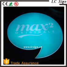 LCSIGN Eye attracting oval cheap led sign led open sign