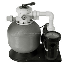 6 way Multiport Filtration Combo fiberglass water filter tank with pump swimming sand filter