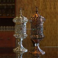 2016 popular metal aladine lamp oil incense burner