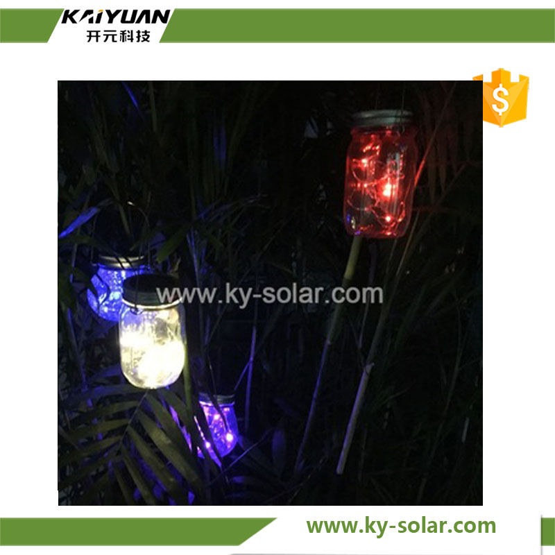 Household Festival decoration LED lights solar mason jar lights