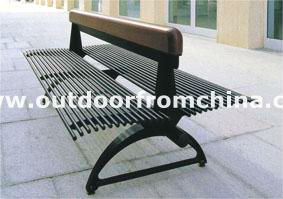 steel park bench/outdoor bench/ patio bench/3 seater seats