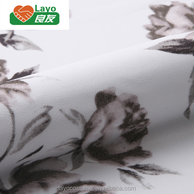 Wholesale 100% Polyester Chiffon Printed Fabric For Women Garments