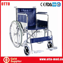 manual wheelchair folded chair disabled Steel