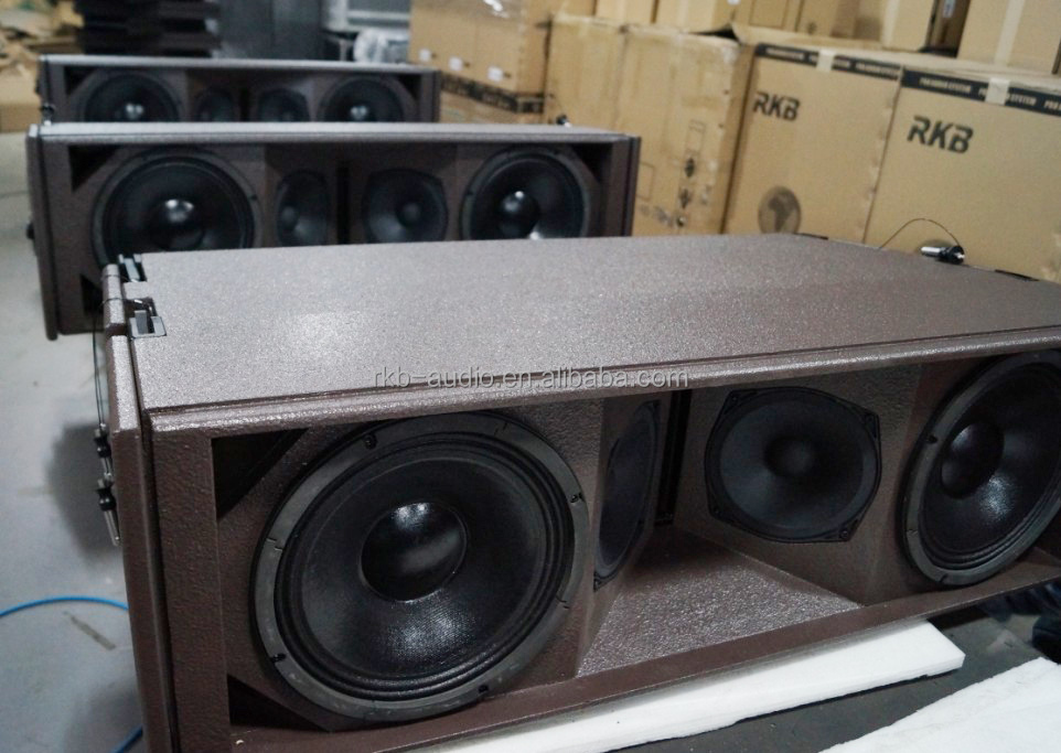 how to build a line array speaker box
