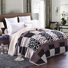 New arrival winter polyester fabric bed sheet blanket for King Queen Double size bed