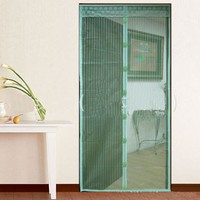 2015 Hot Sale Screen Door Curtain Magic Mesh Hands Free Net Magnetic Anti Mosquito Bug Divider Curtain Home Design