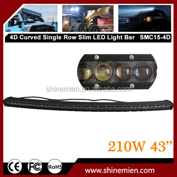 43inch 210W 4D Single Row CR EE Slim Led Offroad Light Bar Spot Boat 4WD Truck Underwater High Power 4X4WD
