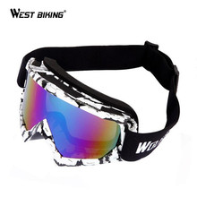 WEST BIKING Windproof Ski Snow Glasses UV400 Protection Mask Glasses Snowboard Goggles Antiparra Snowboard Motorcycle Sunglasses
