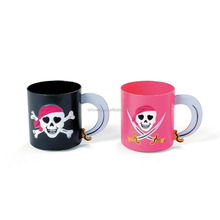 8 oz. 230ml Novelty Party Drinking Cups with Handle Perfect Adorable Decorating Plastic Pink Pirate Girl Mugs Manufacturer
