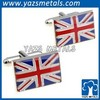 custom different country flag logo cufflinks