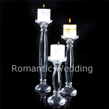 wedding decoration elegant decorative romantic floor standing crystal candle holder