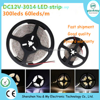 DC12V SMD 3014 LED Strip 60pcs LED Flexible Strip 5mm Width IP20 LED Light Strip