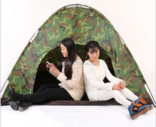 Outdoor camping tents camouflage single tourism supplies three to four people The wild camping