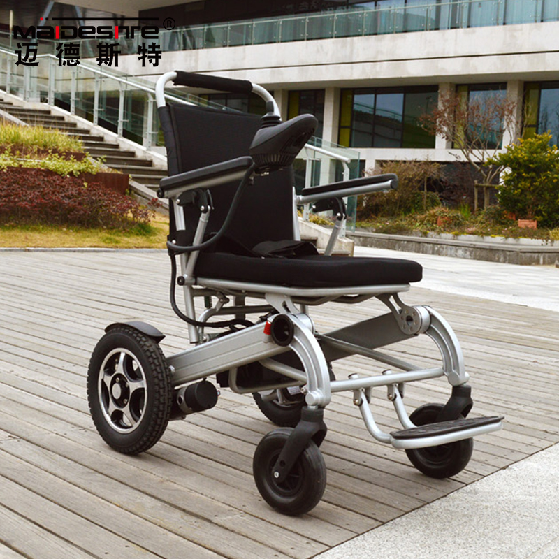medical foldable power light weight electric wheelchair for plane