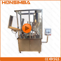 CE ISO SGS 10-550ml Automatic cream paste ointment Tube filling sealing machine