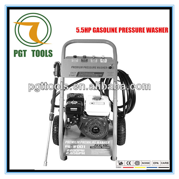 5.5HP 2900PSI gasoline poultry house high pressure washer