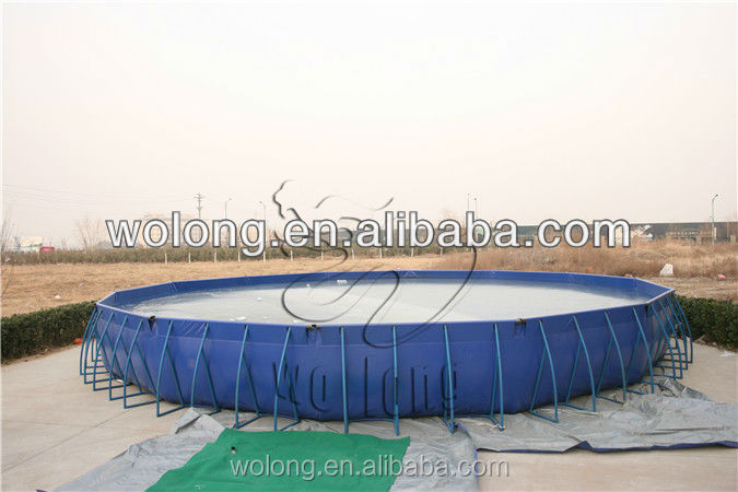 Steel Frame Swimming Pool/outdoor easily assembled metal swimming pool