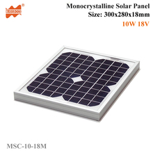 10W 18V Mono solar cell based Crystalline Silicon PV Solar Panel with CE,TUV,RoHS,UL Certificates