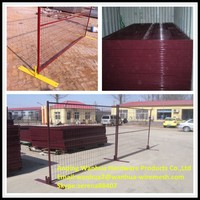 low price high quality colored pvc powder coating removable garden fence