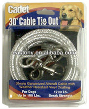 Aerial Dog Tie-Out Trolly 30 Feet with snap hook