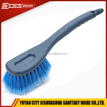 High quality automobile wheel wash brush with water flow through,truck wheel tire cleaning brush tool