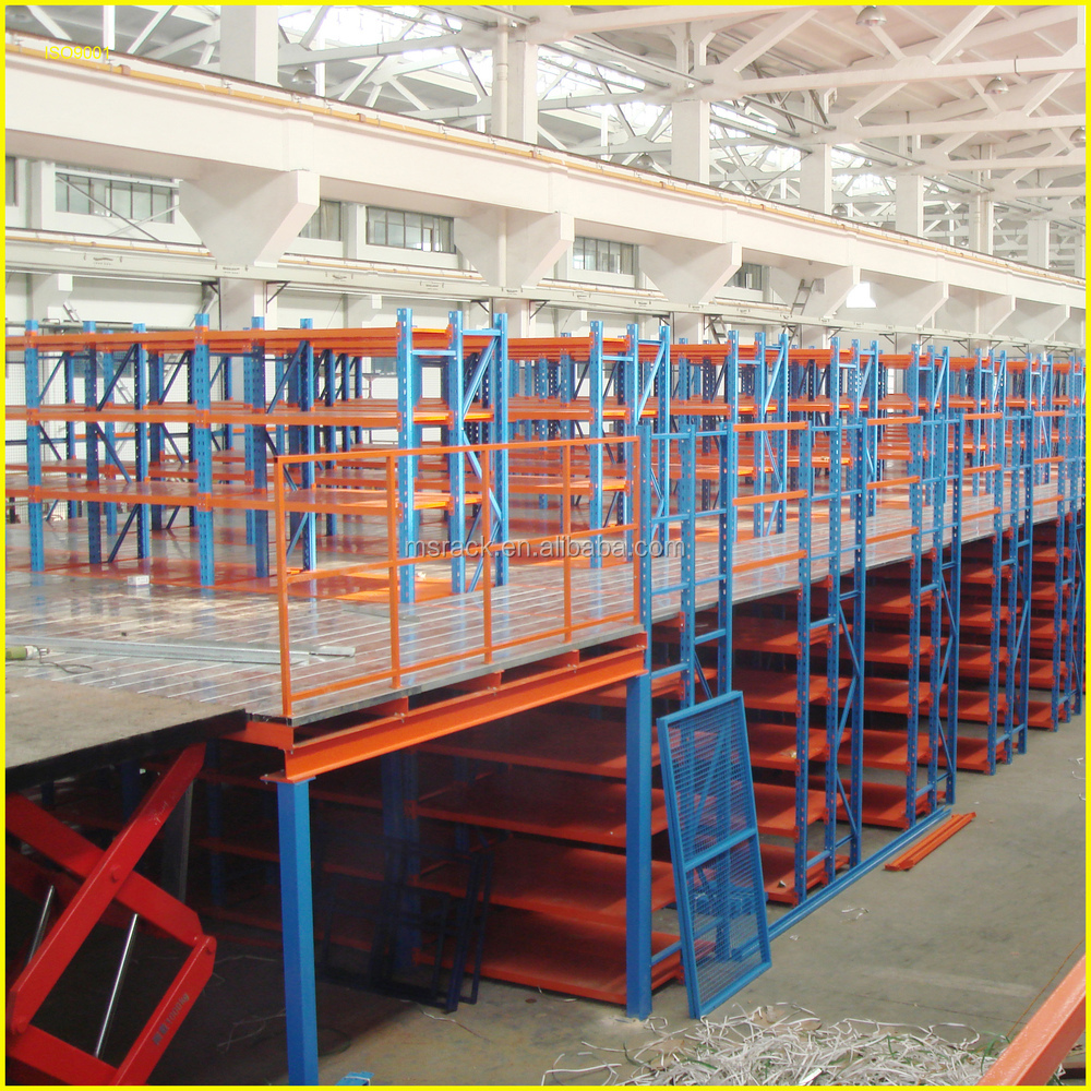 Pallet Rack Mezzanine : Ms multi level mezzanine warehouse storage iron rack