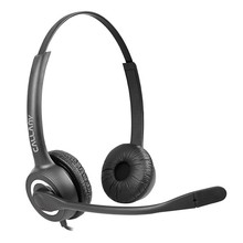 binaural USB call center noise cancelling telephone headset