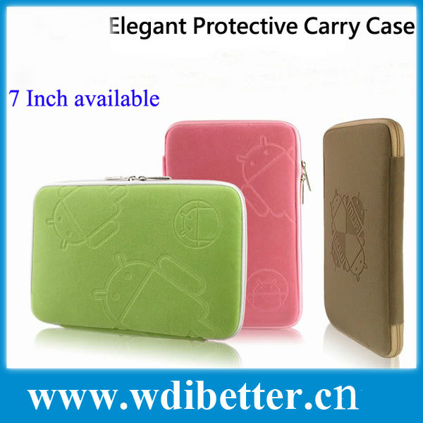 Android Style Soft Cloth Case Bag Cover Sleeve Skin Pouch for 7 inch 8 inch 9 inch 10 inch Tablet PC