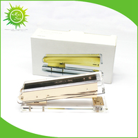 Clear acrylic stapler with gold metal color
